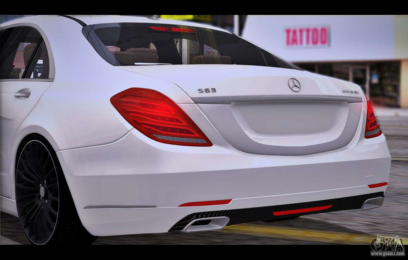 Mercedes benz s63 w222 quality items for gta san andreas for Mercedes benz stuff