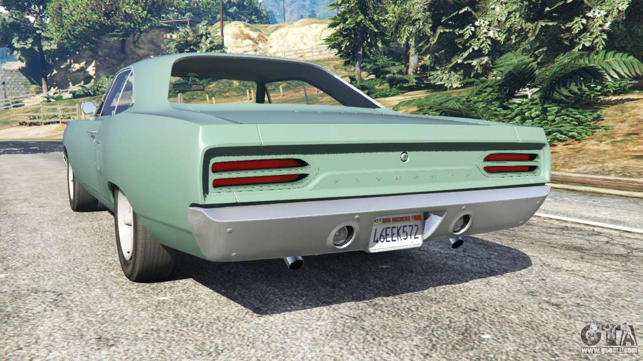 Gta 5 plymouth road runner 1970 fix rear left side view