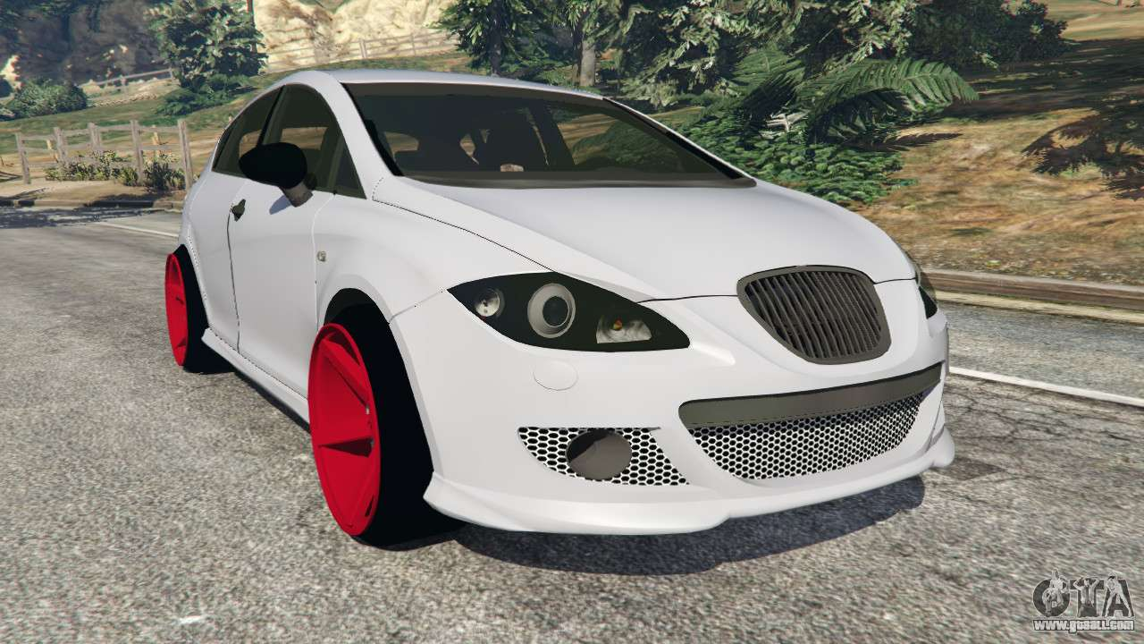 seat leon ii 2010 v1 1 for gta 5. Black Bedroom Furniture Sets. Home Design Ideas