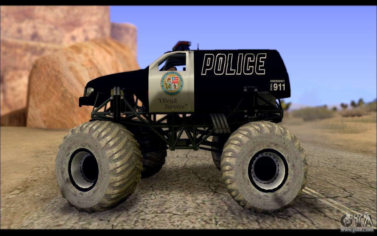 The Police Monster Trucks For Gta San Andreas