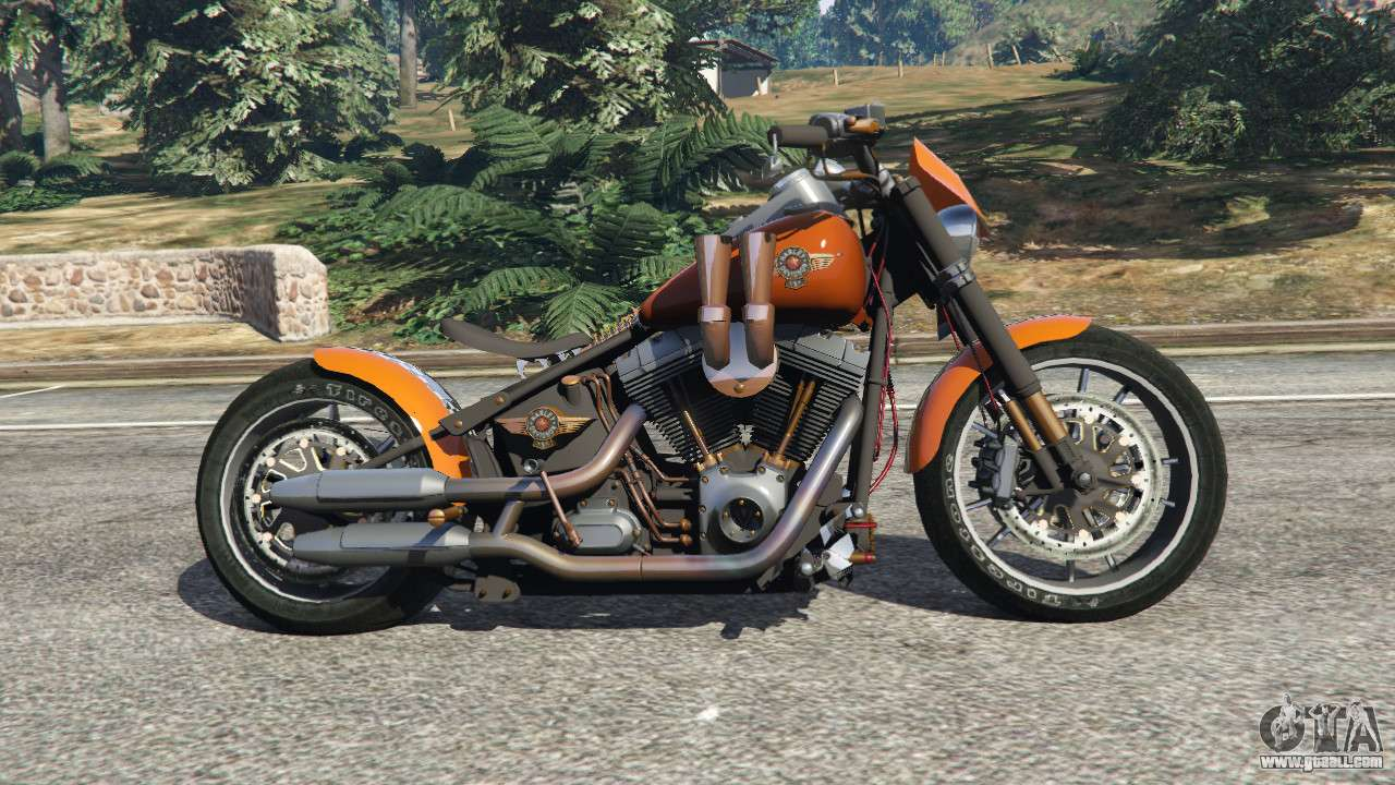 harley davidson fat boy lo racing bobber v1 2 for gta 5. Black Bedroom Furniture Sets. Home Design Ideas