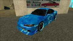 Nissan Silvia S15 Drift Blue Star for GTA San Andreas
