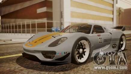 Porsche 918 RSR for GTA San Andreas
