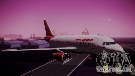 Airbus A319-100 Air India for GTA San Andreas