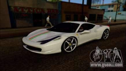 Ferrari 458 Italia 2010 for GTA San Andreas