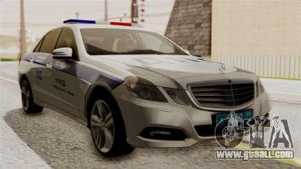 Mercedes-Benz E500 interior Ministry traffic police for GTA San Andreas