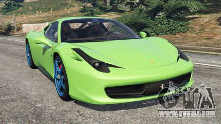 Ferrari 458 Italia 2009 v1.6 for GTA 5