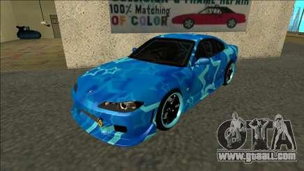 Nissan Silvia S15 Drift Blue Star for GTA San Andreas