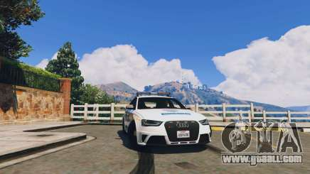 Audi RS4 Avant Hungarian Police for GTA 5