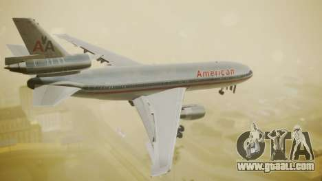 DC-10-10 American Airlines Luxury Liner for GTA San Andreas left view