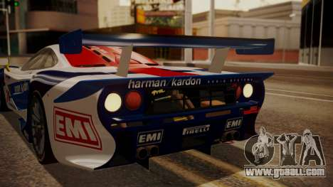 McLaren F1 GTR 1998 HarmanKardon for GTA San Andreas upper view