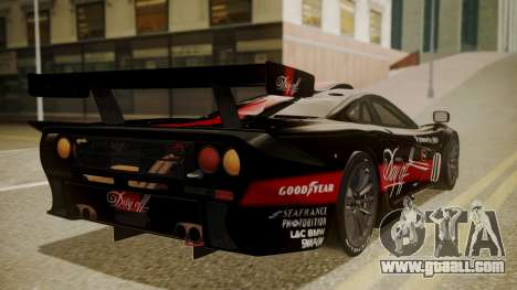 McLaren F1 GTR 1998 Day Off for GTA San Andreas left view