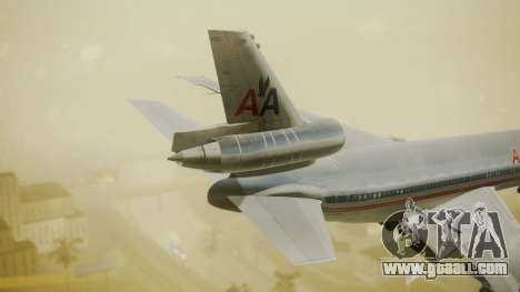 DC-10-10 American Airlines Luxury Liner for GTA San Andreas back left view