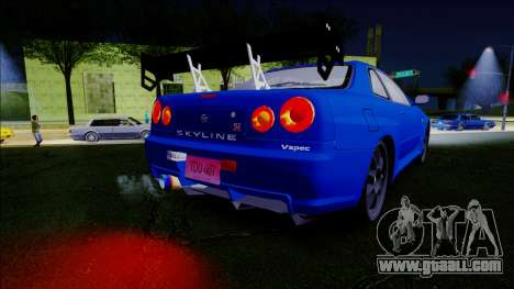 Nissan Skyline GT-R ESR Drift Tuning for GTA San Andreas right view