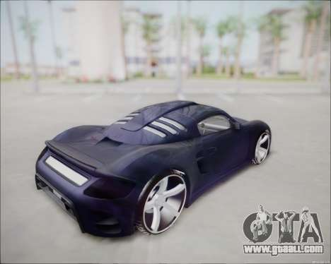 Ruf CTR 3 2015 for GTA San Andreas back left view