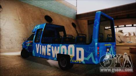 Vinewood VIP Star Tour Bus (Fixed) for GTA San Andreas left view