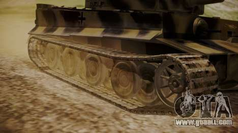 Panzerkampfwagen VI Tiger Ausf. H1 No Interior for GTA San Andreas back left view