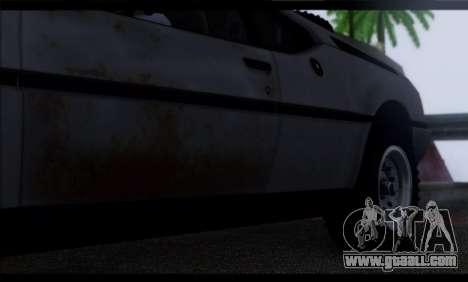 BMW M1 E26 Rusty Rebel for GTA San Andreas upper view