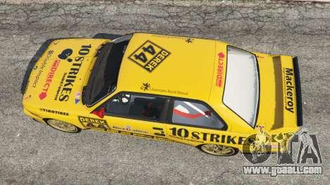 GTA 5 BMW M3 (E30) 1991 [10 strikes] v1.2 back view