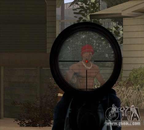 Sniper Scope v2 for GTA San Andreas sixth screenshot