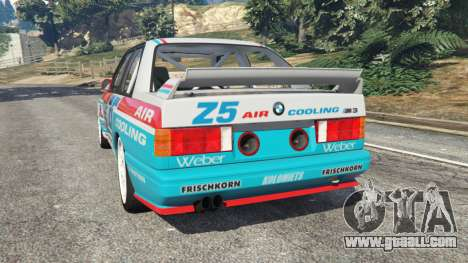 GTA 5 BMW M3 (E30) 1991 [Z5] v1.2 rear left side view