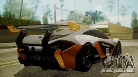 McLaren P1 GTR 2015 for GTA San Andreas left view