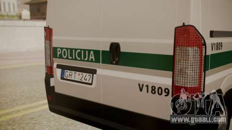 Fiat Ducato Lithuanian Police for GTA San Andreas right view