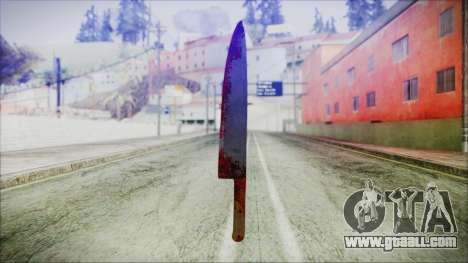 Helloween Butcher Knife for GTA San Andreas second screenshot