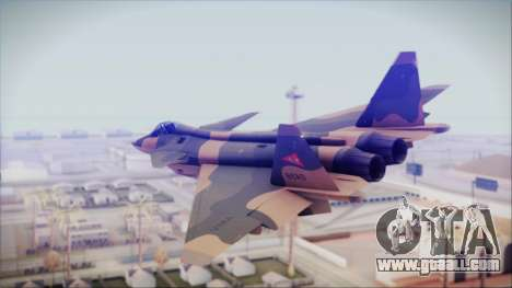 Mikoyan MIG 1.44 Flatpack Venezuelan Air Force for GTA San Andreas left view