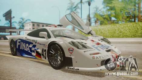 McLaren F1 GTR 1998 Team BMW for GTA San Andreas wheels