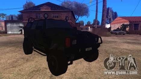 Komatsu LAV 4x4 Unarmed for GTA San Andreas back left view
