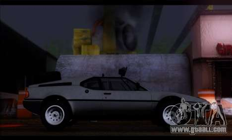 BMW M1 E26 Rusty Rebel for GTA San Andreas left view