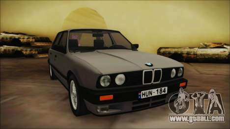 BMW 325i E30 for GTA San Andreas back left view