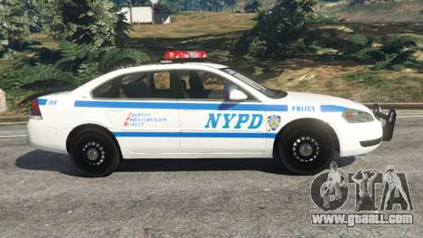 GTA 5 Chevrolet Impala NYPD left side view