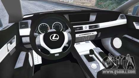 Lexus GS 350 F-Sport 2013 for GTA 5
