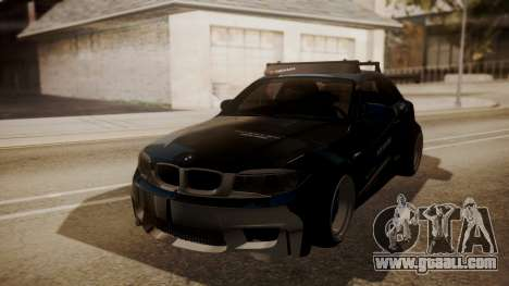 BMW 1M E82 with Sunroof for GTA San Andreas upper view