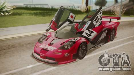 McLaren F1 GTR 1998 Team Lark for GTA San Andreas interior