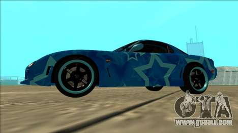 Mazda RX-7 Drift Blue Star for GTA San Andreas back view