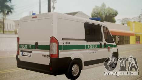 Fiat Ducato Lithuanian Police for GTA San Andreas left view