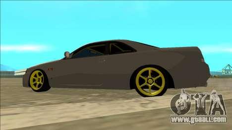Nissan Skyline R33 Drift for GTA San Andreas inner view