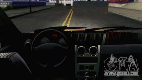 Dacia Logan Pickup 6x6 for GTA San Andreas back view