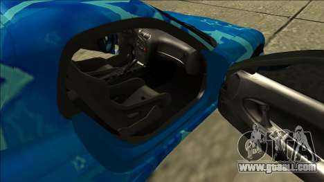 Mazda RX-7 Drift Blue Star for GTA San Andreas inner view