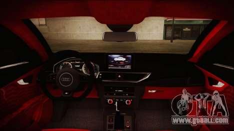 Audi RS7 Sportback 2015 for GTA San Andreas interior