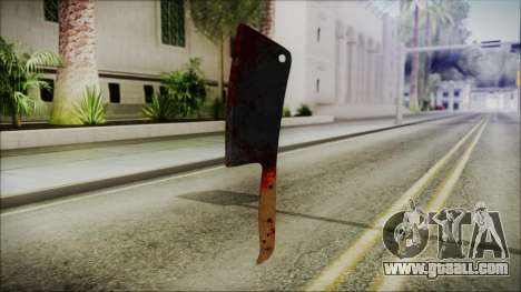 Helloween Butcher Knife Square for GTA San Andreas