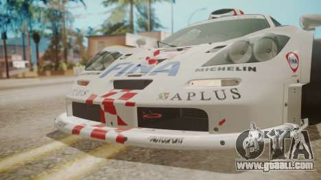McLaren F1 GTR 1998 Team BMW for GTA San Andreas bottom view