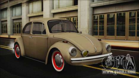 Volkswagen Beetle 1973 for GTA San Andreas inner view