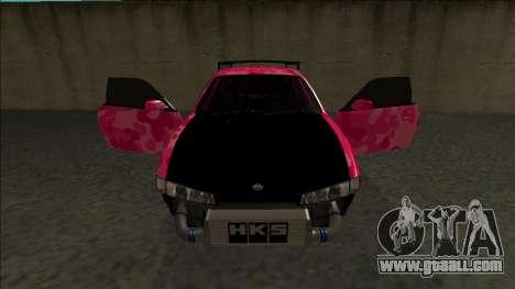 Nissan Silvia S14 Drift for GTA San Andreas bottom view