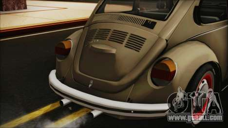 Volkswagen Beetle 1973 for GTA San Andreas back view