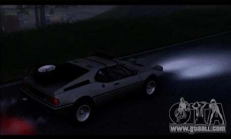 BMW M1 E26 Rusty Rebel for GTA San Andreas right view