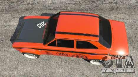 GTA 5 Ford Escort MK1 v1.1 [HRE] back view